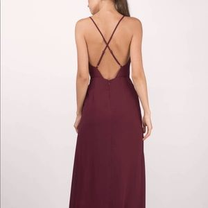 Tobi cross-back maxi dress